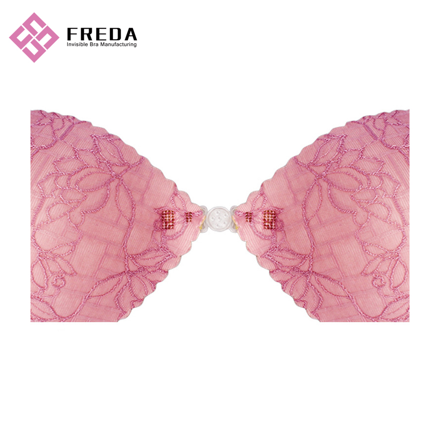 Beautiflu Flower Pattern Print Dawn Pink Lace Bras