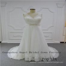 Design perfeito com vestido de noiva Top Lace