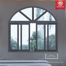 Modern Style Sliding Arched Aluminum Windows, Residential Bedroom Windows