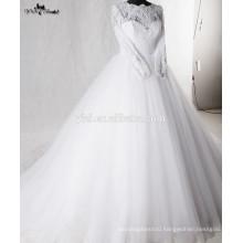 RSW938 Lace Puffy Princess Ball Gown Arab Muslim Wedding Dress Wedding Gowns
