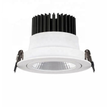 Recessed cob black white 2 colour 6w 8w 9w 12w 20w 30w ce round dimmable led cob downlight 135 mm cutout