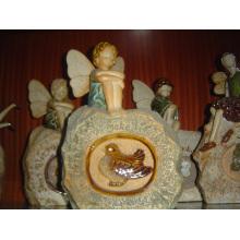 Anges en céramique de décoration de jardin en céramique