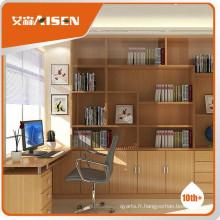 Conception de bibliothèque en bois de bon service