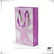 2018 purple paper custom logo packing gift bags