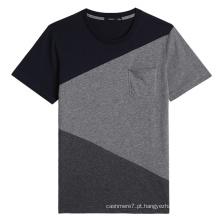 Fábrica OEM Homens Em Torno Do Pescoço Camisetas Algodão Moda T-Shirts