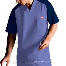 Männer Royal Raglan Contrast 5 Pocket Nursing Uniformen (xy234)