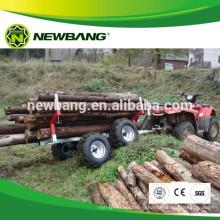 atv towable log trailer