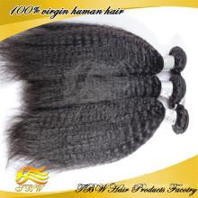 2015 горячей !!! Оптовая Дешевые 100% Необработанные Девственница Монгольский Человеческих Кудрявый Прямо Яки Волос Weave