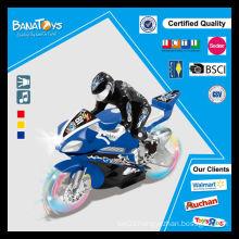 Hot sale kid toy transparent wheel mini motorcycle