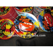 Haonai 2014 bulk bright colorful decal beautiful ceramic dinner/soup plate