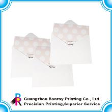 venda quente luxo impressão offset convites cartões de casamento