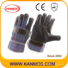 Темные меховые кожаные рабочие рабочие перчатки безопасности (310041)