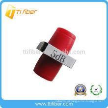 Atenuador de fibra fija FC de 5dB