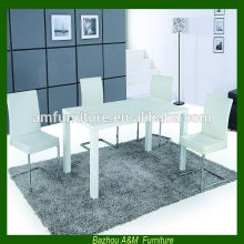 2014 new design Modern extendable E1 mdf dining table and chairs set