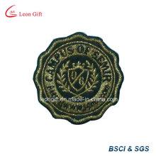 Insignia del bordado de encargo remiendo Embroideried hilo de oro