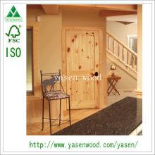 Vertical Panel Interior Knotty Pine Wooden Door