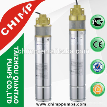 4'' SK series 1HP brass outlet submersible deep well pump for agriculture