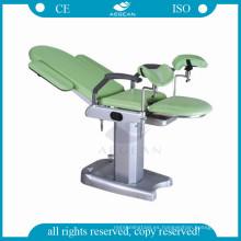 Mesa de trabajo obstétrica ginecológica manual ajustable de altura fija AG-S102B