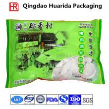 Personalizar bolsa de envasado de alimentos congelados de plástico, bolsa de mariscos