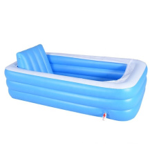 large size inflatable bathtub with L shape cushion
