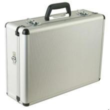 Caja de herramientas de aleación de aluminio con espuma y bolsa recortables
