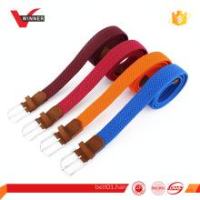 Colorful elastic stretch braided belt