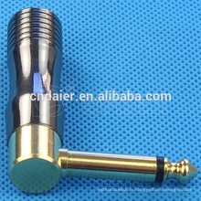 Jack 6.3MM Angle terminal plaqué or Daier