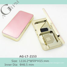 Retro shining Rectangular Compact Powder Case With Mirror AG-LT-2153, AGPM Cosmetic Packaging , Custom colors/Logo