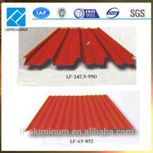 Revêtement en aluminium ondulé en tôle pour toiture