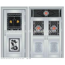 Luxury stainless steel double entry doors security stainless steel gate doors