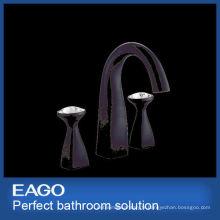 NOUVEAU DESIGN Mélangeur de robinet de lavabo en laiton noir à 2 poignées (PL207B-99S)