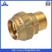 Male Thread Brass Compression Spanish Pipe Fitting (YD-6041)