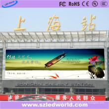 Panel de visualización exterior LED de 6 mm de tono para la estación de tren