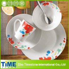 16PCS Porcelain Ceramic Dinner Set with Floral Design (TM01066)