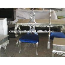 Antique wood fabric cushion chair XYD088
