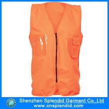 Fábrica de vestuário alta visibilidade segurança Orange Vest com material reflexivo