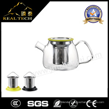 High Borosilicate Glass Tea Pot with Stainless Steel Infuser