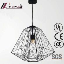 Chinese Style Black Metal Hollow Decorative Pendant Lamp
