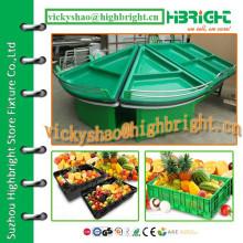 Hochwertiges Acryl-Dreieck-Stil-Endregal für Gemüse und Obst