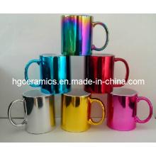 Galvanisierende keramische Tasse, metallische Tasse