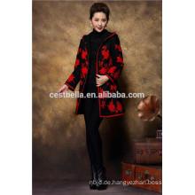Chinesischer Strickjacke Kleid Mantel Graben Mantel traditionellen bestickt qipao Mantel