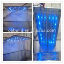 304 stainless steel led rainfall ceiling shower head