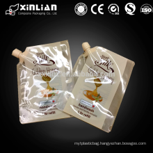 plastic drink transparent spout bag