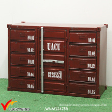 Vintage Industrial Handmade Metal Container Cabinet
