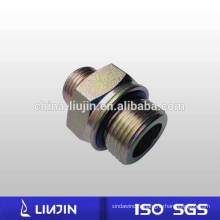 Raccord de tuyau de joint torique mâle métrique en acier au carbone métrique pour raccord de tuyau hydraulique (1EH)