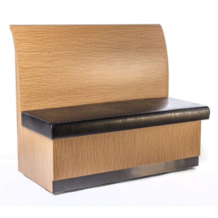 Solid Wood Modern Restaurant Diner Love Seat Booths