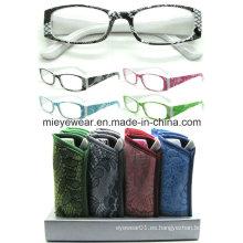Señoras moda lentes de lectura de plástico (MRP21659)