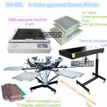ТМ-R6k шесть цвета Футболка экран печатная машина