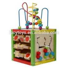 Educational Toy Activity Cube Wooden Playing Cube Toy