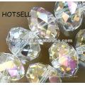 Pierres précieuses facetées AB Clear Rondelle beads
